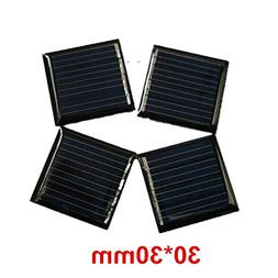 10Pcs 2V 45mah 0.09W 30x30mm Micro Mini Power Small Solar Ce