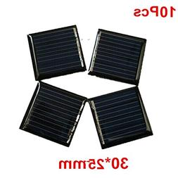 10Pcs 1V 80mah 30x25mm Micro Mini Power Small Solar Cells Mo
