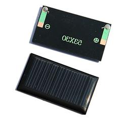 2Pcs 5V 0.15W 30mAh 53x30mm Micro Mini Power Solar Panel Cel