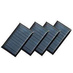Set of 4 Pieces NUZAMAS 5V 30mA 53X30mm Micro Mini Solar Pan
