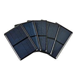 AOSHIKE 5PCS 2V 300mA Micro Solar Cells For Solar Panels Pol