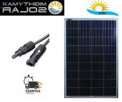 Mighty Max 100 Watt Solar Panel 12V Poly Off Grid Battery Ch