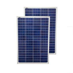 Mighty Max 200 Watt Solar Panel Poly 2pc 100w Watts 12V RV B
