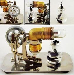 Mini Hot Air Stirling Engine Motor Model Educational Toy Kit