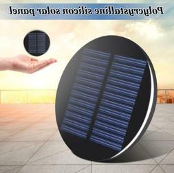 Mini Solar Panel Module 6V 2W 0.35A 80MM Round Poly DIY Epox