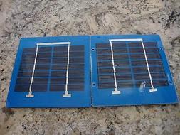 Mini Solar Panels 12v 1w series Lot of Two Panels  Pmax 6.7v