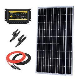 Giosolar 200 Watt 12 Volt Mnocrystalline Solar Panel Starter