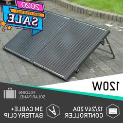 100W Mono Portable Folding Solar Panel Charge for 12V off Gr