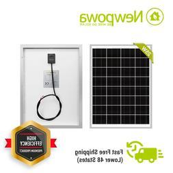 NewPowa Mono 25W Watt 12V Solar Panel High Effciency Module