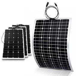 Genssi 4x 100W Mono Flexible Photovoltaic PV Solar Panel Mod
