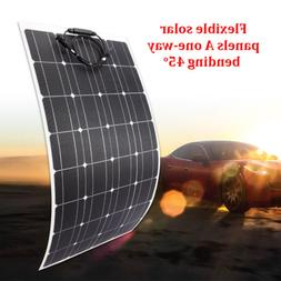 Mono Semi flexible Solar Panel 100 Watt 18V Multi-use f/ car