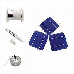 DIY 100W Panel-40pcs 5x5 Mono High Power Solar Cells Kit w/T