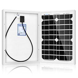 ACOPOWER 20W Mono Solar Panel for 12 V Battery Charging, Off