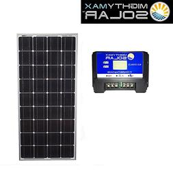 100W Mono Solar Panel for Trailer Breakaway + 12V Charge Con