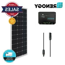 100 Watt 12V Mono Solar Panel Bundle Kit Off Grid for RV Boa