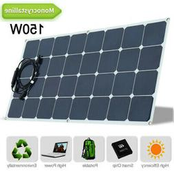 Monocrystalline 18V 100W Solar Panel Flexible Charge Car RV