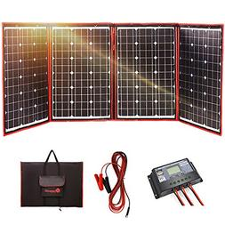 DOKIO Foldable Solar Panel 200 Watts 12 Volts Monocrystallin