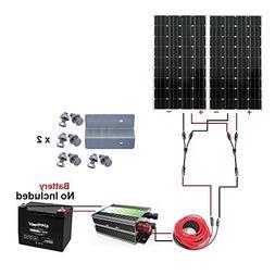 ECO-WORTHY 300W Monocrystalline 12v 24v Off Grid Battery Cha