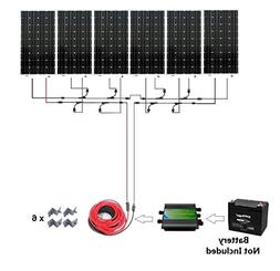 1000W 1kw Monocrystalline 24v Off Grid Solar Panel Kit: 6pcs