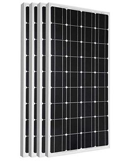 ECO-WORTHY 4 Pieces 100W Monocrystalline Photovoltaic PV Sol