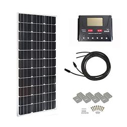 HQST 100 Watt 12 Volt Monocrystalline Slim Solar Panel Kit w