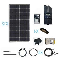 Renogy 3600 Watt Monocrystalline Solar Cabin Kit for Off-Gri