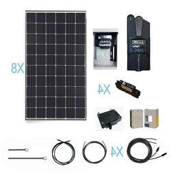 Renogy 2400 Watt Monocrystalline Solar Cabin Kit for Off-Gri