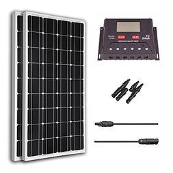 Renogy 200 Watt 12V Monocrystalline Solar Bundle Kit With 30