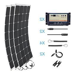 HQST 300 Watt 12 Volt Monocrystalline Solar Marine Kit
