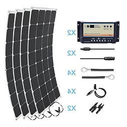 HQST 400 Watt 12 Volt Monocrystalline Solar Marine Kit
