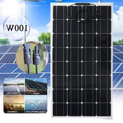 Monocrystalline Solar Panel 100 Watts 18V Flexible Charge Ca