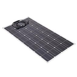 100 Watt 12 Volt Monocrystalline Solar Panel for RV Travel T