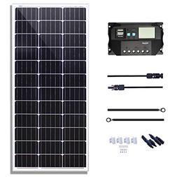 KOMAES 100 Watts 12Volts Monocrystalline Solar Panel with En