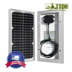 HQST 10 Watts 12 Volts Monocrystalline Solar Panel for DC 12