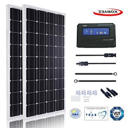 KOMAES 200 Watts 12Volts Monocrystalline Solar Panel With En