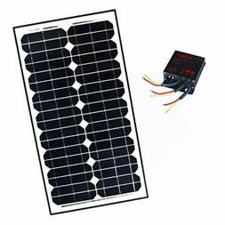 ALEKO Monocrystalline Solar Panel Charging Controller Kit  1