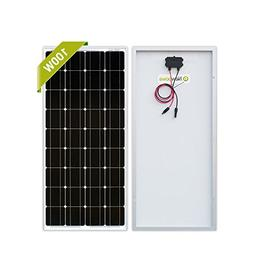 Newpowa 100 Watt Monocrystalline 100W 12V Solar Panel High E