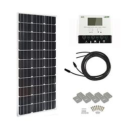 HQST 100 Watts 12 Volts Monocrystalline Solar Panel Off-Gri