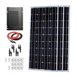 Giosolar 300W 12V Monocrystalline Solar Panel Kit with MPPT
