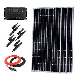 Giosolar 300 Watt 12 Volt Monocrystalline Solar Panel Kit Of