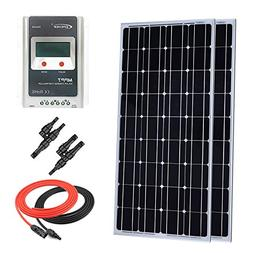 Giosolar 200 Watt Monocrystalline Solar Panel Kit Off-Grid: