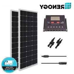 Renogy 200 Watts 12 Volts Monocrystalline Solar Bundle Kit w