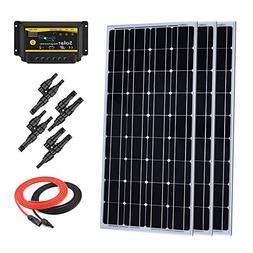 Giosolar 300 Watt Monocrystalline Solar Starter Kit with 30A