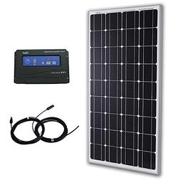 Komaes 100 Watts 12 Volts Monocrystalline Solar Bundle Kit w