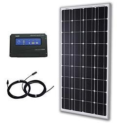 Komaes 100 Watts 12 Volts Monocrystalline Solar Bundle Kit w