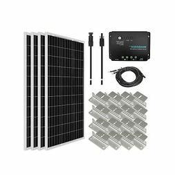 Renogy 400 Watt 12 Volt Monocrystalline Solar Starter Kit wi