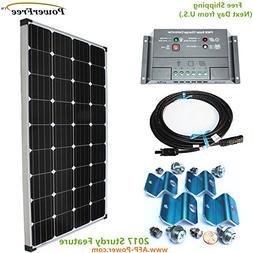 MonoPlus Solar Cell 150w 150 Watt Panel Charging Kit for 12v