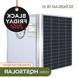 HQST 100W Watt Solar Panel 12V 100W Module Monocrystalline C