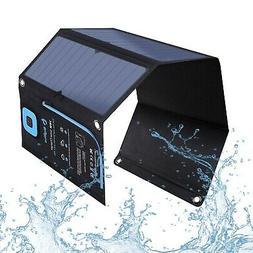 BigBlue New 28W Portable Solar Charger 2-Port USB 4 Waterpro