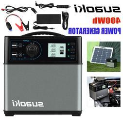 New 400Wh Suaoki Jump Starter Cars Solar Power Inverter Ligh